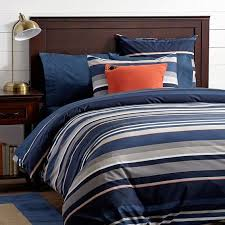 creative ideas navy stripe duvet cover stand out full queen pbteen riley and white ticking blue