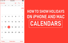 show holidays on iphone and mac calendars