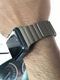 leather loop straps brown apple smart watch band