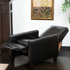 Living Room Club Chairs Amazoncom Lucas Black Leather Modern Sleek Recliner Club Chair