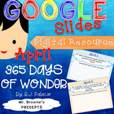 digital writing prompts for 365 days of wonder april