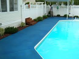 Trojan Color on pool deck (Ocean Blue)
