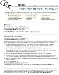 Medical Assistant Resume Example Inspiration Medical Assistant Resume Template Resumes Templates Mysticskingdom