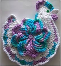 Free Crochet Potholder Patterns Magnificent Striped Star Chicken = Potholder [Free Crochet Pattern] Your Crochet