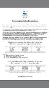 New Tylenol Dosage Chart 160mg Kids Infant Tylenol