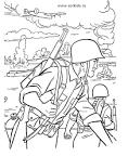 Раскраска солдаты российской армии для дошкольников
