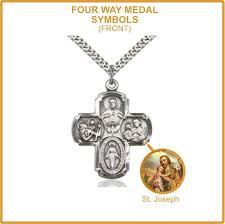 four way medal saint joseph