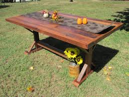 Barnwood Kitchen Table 6 Farmhouse Dining Table Picnic Table Barn Wood