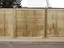 overlap fence panel green tan