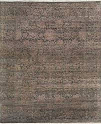 udai exports blue purple wool bamboo silk rugs