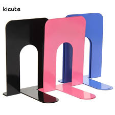 One pair Blue Red Black Heavy Duty Metal Bookends Book Ends Home Office  Supplies Stationery for Student Good Helper DIY
