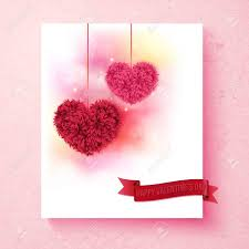 Sentimental Valentine Card Design With Colorful Pink And Red
