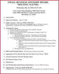 Sample Agendas For Board Meetings Board Meeting Agenda Template 10 Free Samples Formats For Word