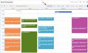 Group Scheduler The Scheduler View