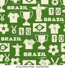 Football Pattern Best Brazil Football Seamless Pattern Seamless Repeat Pattern With
