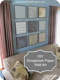 easy diy scrapbook paper wall art  on easy inexpensive diy wall art with diy wall decor from scrapbook paper love the nuances of this color