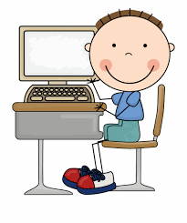 Computer Clip Art Computers Clipart Boy Kid On Computer Clipart Cartoon
