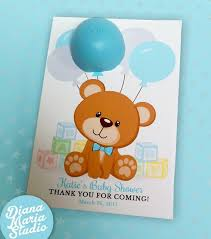 Eos Baby Shower Favors Baby Boy Teddy Bear Baby Shower Theme Etsy