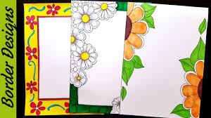 Border Designs Images Pictures Flowers Border Designs On Paper Border Designs Project Work Designs Borders For Projects