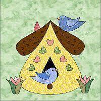 Birdhouse quilt | Birdhouse, App and Galleries & bird house quilt block | Sundrop Designs - quilt patterns and applique  block patterns featuring . Adamdwight.com