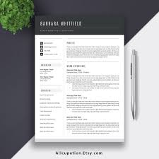 2019 Professional Resume Template Modern Cv Template Word Resume Design Cover Letter Best Resume Job Resume The Barbara
