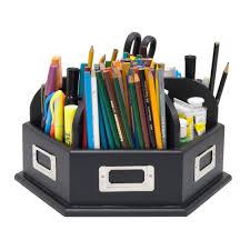 Desk Organizer Studio Designs 12166 Wood Desk Organizer Carousel The Mine