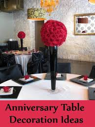 the 50th anniversary celebrations constitute a grand event and keeping in tune with function it is 50th anniversary table decoration ideas