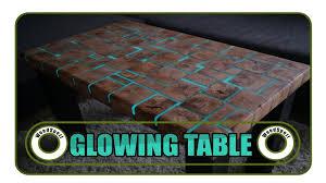 Glowing Table Leuchtender Tisch Diy Youtube