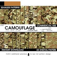 Military Camo Patterns Extraordinary Army Camo Paper Camo Patterns Military Camouflage Etsy