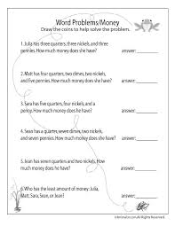 Magnificent Money Worksheets For Kids Nd Grade Free Printable Math ...