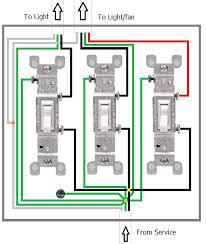 triple light switch wiring diagram Triple Light Switch Wiring Diagram electrical de coupling fan and lighting switches? home triple light switch wiring diagram