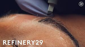 <b>Microblading Permanent</b> Eyebrow <b>Tattoo</b> Up Close | Macro Beauty ...