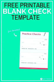 Free Check Template Download Novelty Check Template