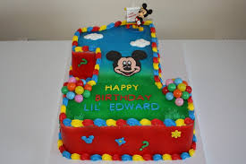 Mickey Mouse Clubhouse 1st Birthday Cake Cakecentralcom