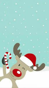 Christmas Reindeer Phone Background ...