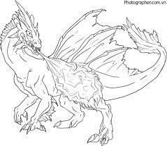 Tổng hợp các bức tranh tô màu con rồng dành cho bé trai