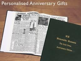 newspaper book anniversary gift