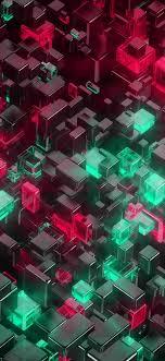 vp40-digital-art-green-red-3d-pattern