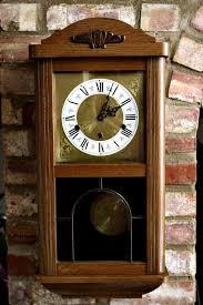 vintage art deco west german wall clock