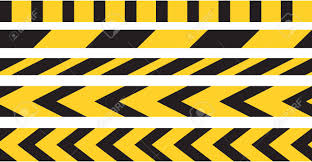 Black And Yellow Stripes Border Caution Tape Border Vector Black And Yellow Stripes Danger Notice