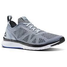 reebok shoes for men grey. reebok - print smooth clip ultraknit meteor grey / black white vital blue shoes for men s