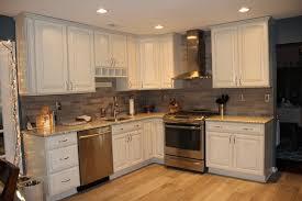 Small Picture full kitchen view Lady Grey Brushed Stone tile backsplash