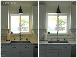 gooseneck lighting in kitchen. farmhouse kitchen sink with copper gooseneck faucet transitional lighting in s