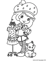 Small Picture animated series strawberry shortcake with cat custard kitten