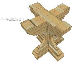 farmhouse style round pedestal table her tool belt how to build a round table base