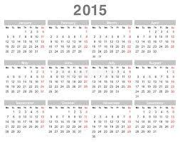 Annual Calendar 2015 2015 Year Annual Calendar Monday First English Stock