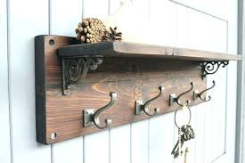 Wooden Coat Rack With Shelf New Wall Coat Rack With Hooks Wall Rack Hooks Reclaimed Wood Coat Hook