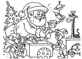 Small Picture Christmas coloring pages santa and elves ColoringStar