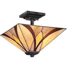 tiffany flush ceiling lights uk. elstead quoizel \u0027asheville\u0027 semi-flush ceiling light, valiant bronze - qz/ tiffany flush lights uk l