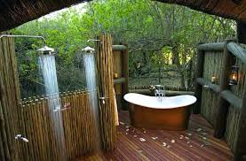 Showers Outdoor Wooden Shower Outdoor Showers Design Standalone